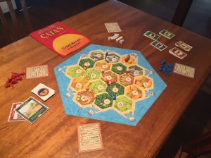 This is what you get in the box of the base Settlers of Catan game.